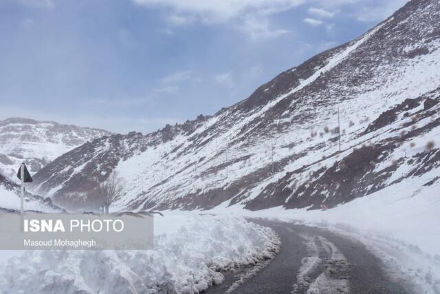 احتمال وقوع بهمن و کولاک در جاده های کوهستانی