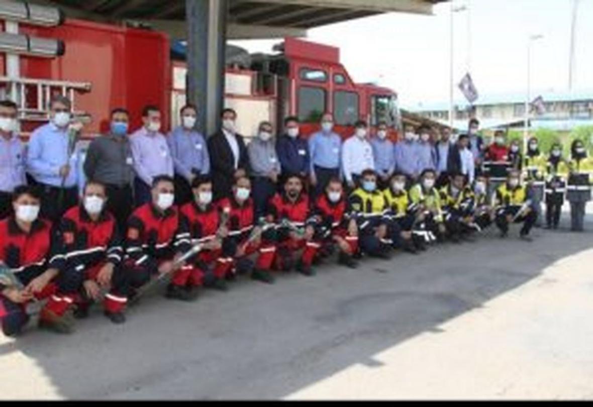 برگزاری آیین بزرگداشت روز آتش نشانی در پتروشیمی کارون