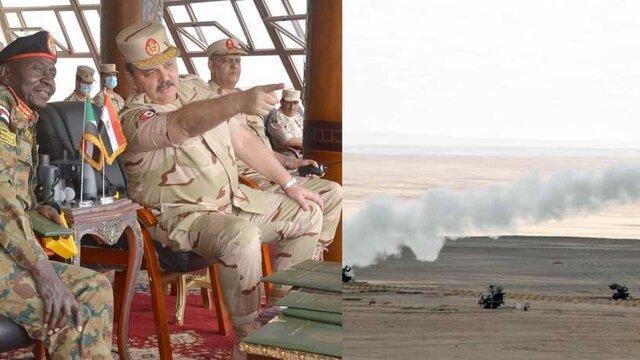 نخستین رزمایش مشترک مصر و سودان پس از برکناری البشیر
