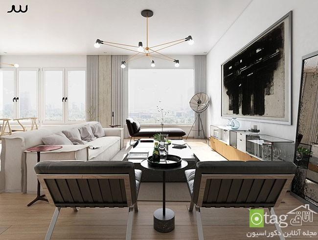 معماری داخلی آپارتمان لوکس در شهر نیویورک با دکوراسیونی ساده